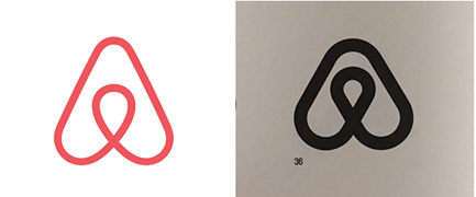 Airbnb Logo Example of Inspiration or Copycat of Original dating 1988